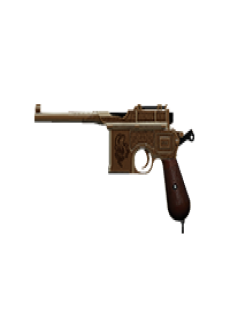 free BROOMSTICK PISTOL | Golden Serpent, Battle-Worn