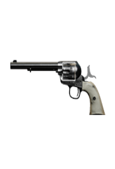 free PEACEMAKER .45 REVOLVER | Justice Pearl, Well-Used, Stat Boost
